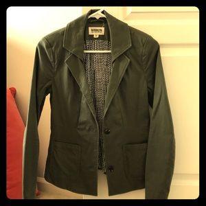 Olive green casual blazer